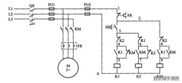 单按钮电动机启停原理图