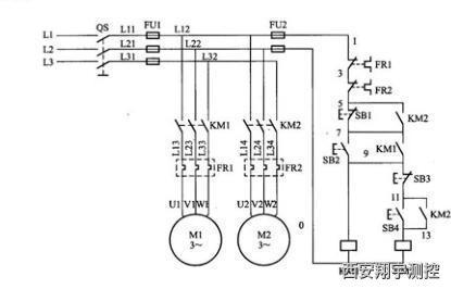 三相異步電動機順序控制電路原理圖